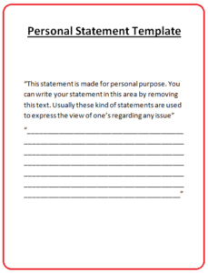 Personal Statement Template Az Word Templates And Forms Az